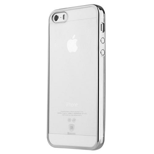Ovitek TPU (prozoren / srebrn) - Apple iPhone 5 / 5S / 5SE