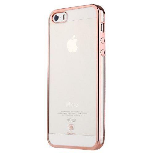 Ovitek TPU (prozoren / roza) - Apple iPhone 5 / 5S / 5SE