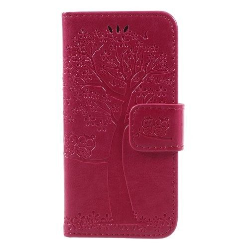 Iphone 5/5S/SE Tree (red) flip tok