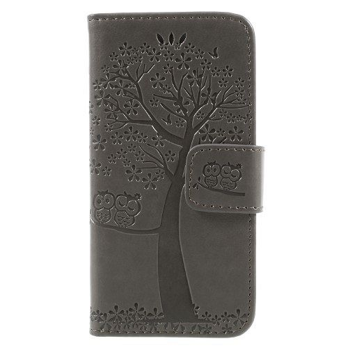 Iphone 5/5S/SE Tree (grey) flip tok