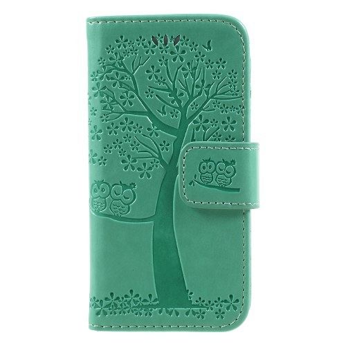 Iphone 5/5S/SE Tree (green) flip tok