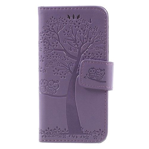 Iphone 5/5S/SE Tree (purpple) flip tok