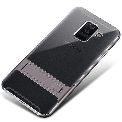 Samsung Galaxy A6 Plus TPU Kickstand (grey) tok