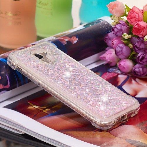 Samsung Galaxy J6 (2018) (pink) Borító vízes csillogók