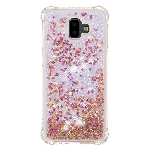 Samsung Galaxy J6 (2018) Plus (rose gold) Borító vízes csillogók