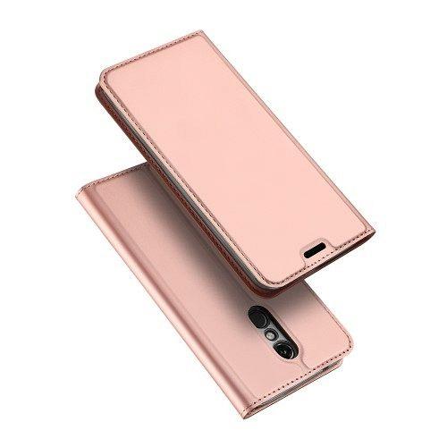 LG K10 (2018) DUX DUCIS (rose gold) flip tok