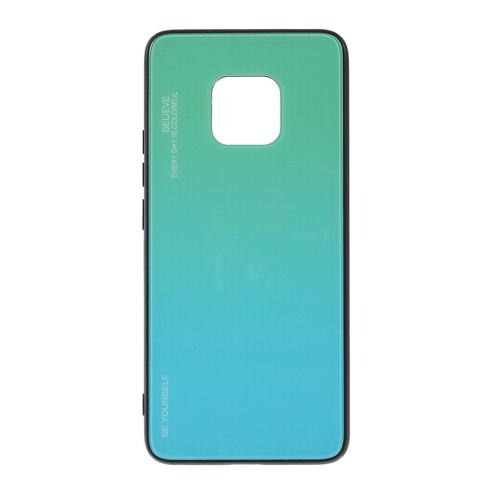 Huawei Mate 20 Pro  TPU + glass (cyan) tok