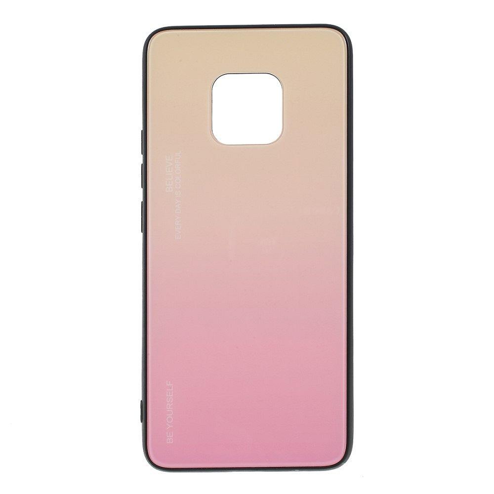 Huawei Mate 20 Pro  TPU + glass (pink) tok