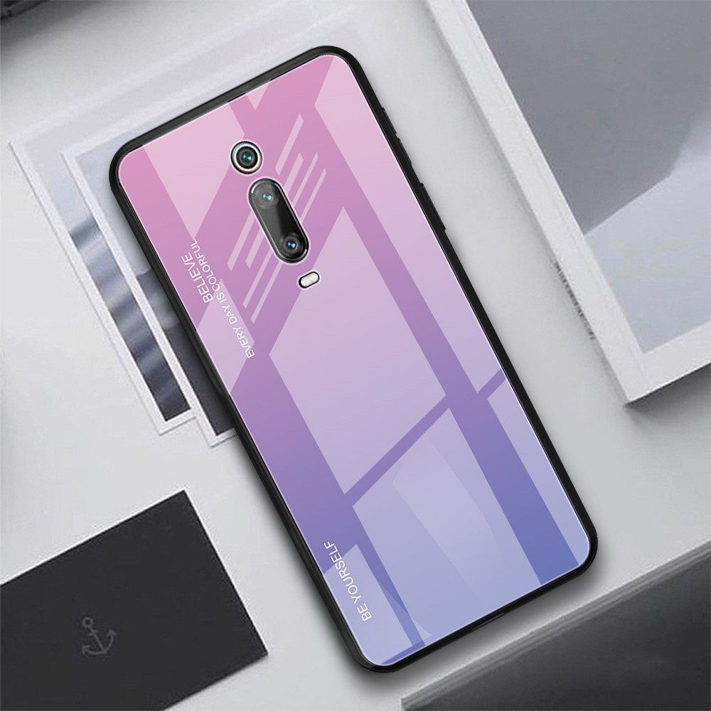 Ovitek TPU + glass (purple/rose) za Xiaomi K20