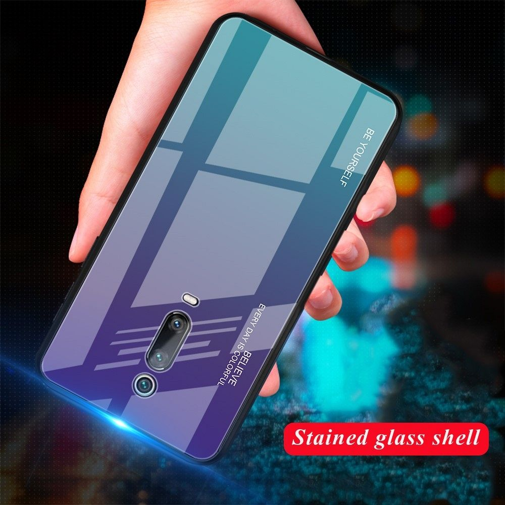 Ovitek TPU + glass (purple/blue) za Xiaomi K20