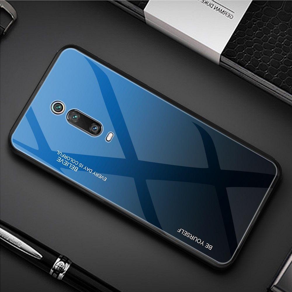 Ovitek TPU + glass (blue/black) za Xiaomi K20
