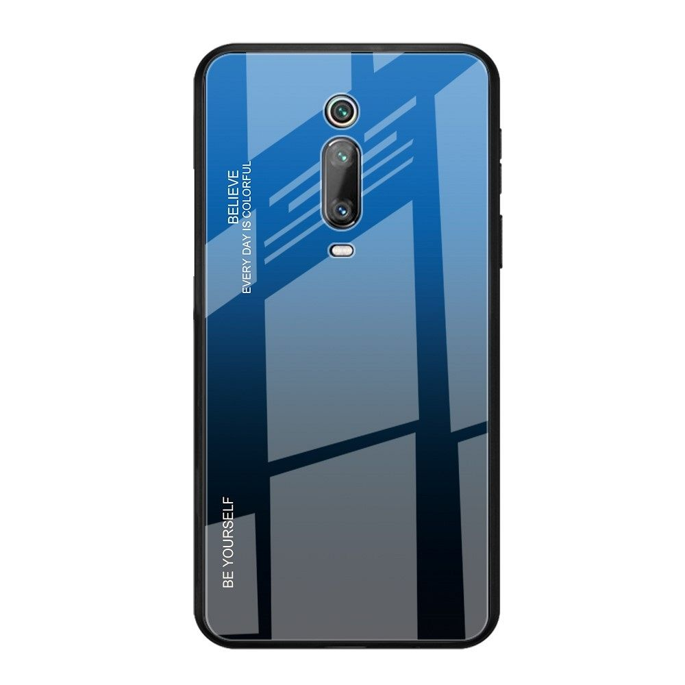 Maska TPU + glass (blue/black) za LG K20