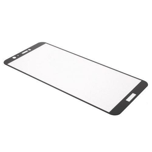 Kaljeno zaščitno steklo (črno) za Huawei P Smart / Enjoy 7S
