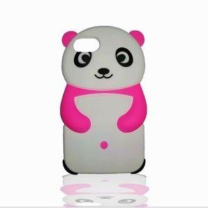 Maska 3D Panda (pink) za iPhone 7/8