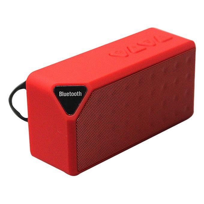 Brezžičen bluetooth Zvočnik X3 (Rdeč)