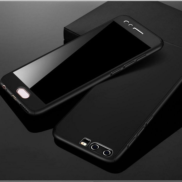 Maska 360° (Crna) + zaštitno staklo za Huawei Mate 20 Lite