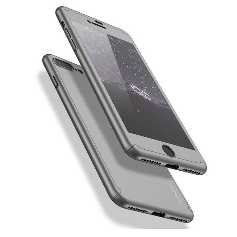 Maska 360° (srebrna) + zaštitno staklo za Apple iPhone 7/8