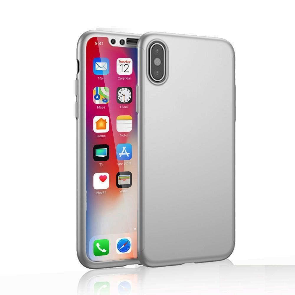 Maska 360° (srebrna) za Apple iPhone X