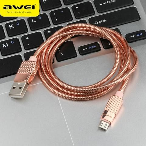 Kabel Awei Aluminium 1m (rose gold) za Apple iPhone
