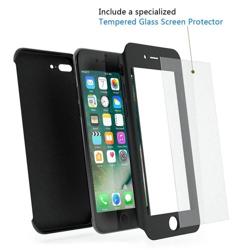 Maska 360° (crna) za Apple iPhone 5/5s/SE