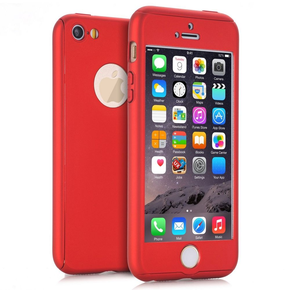 Ovitek 360° (rdeč) za Apple iPhone 5/5s/SE