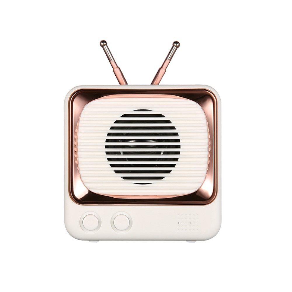Bluetooth prijenosni zvučnik DW02 Retro (bijeli)