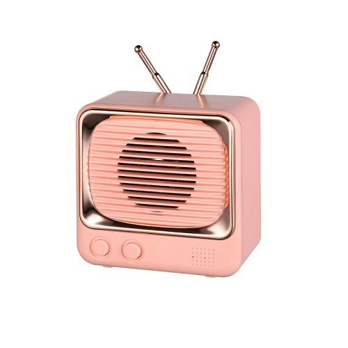 Bluetooth prijenosni zvučnik DW02 Retro (roza)
