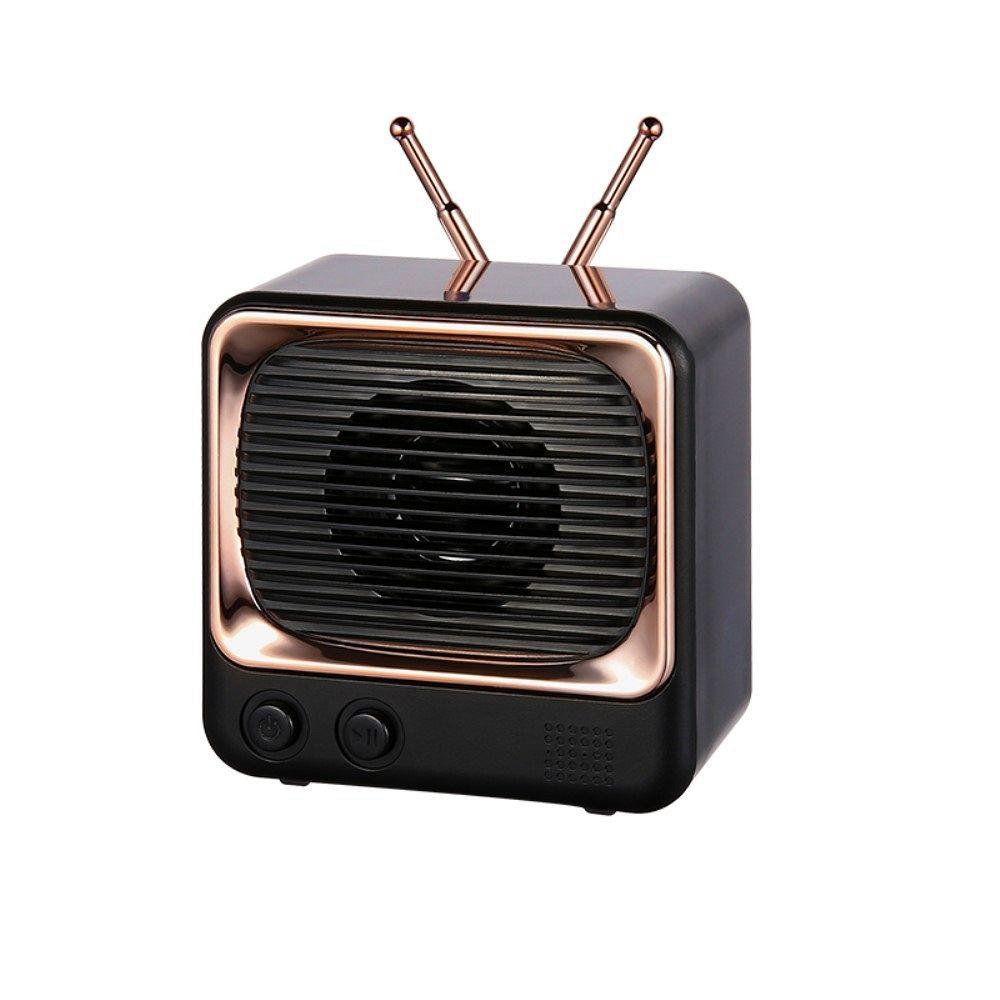 Bluetooth prijenosni zvučnik DW02 Retro (crni)