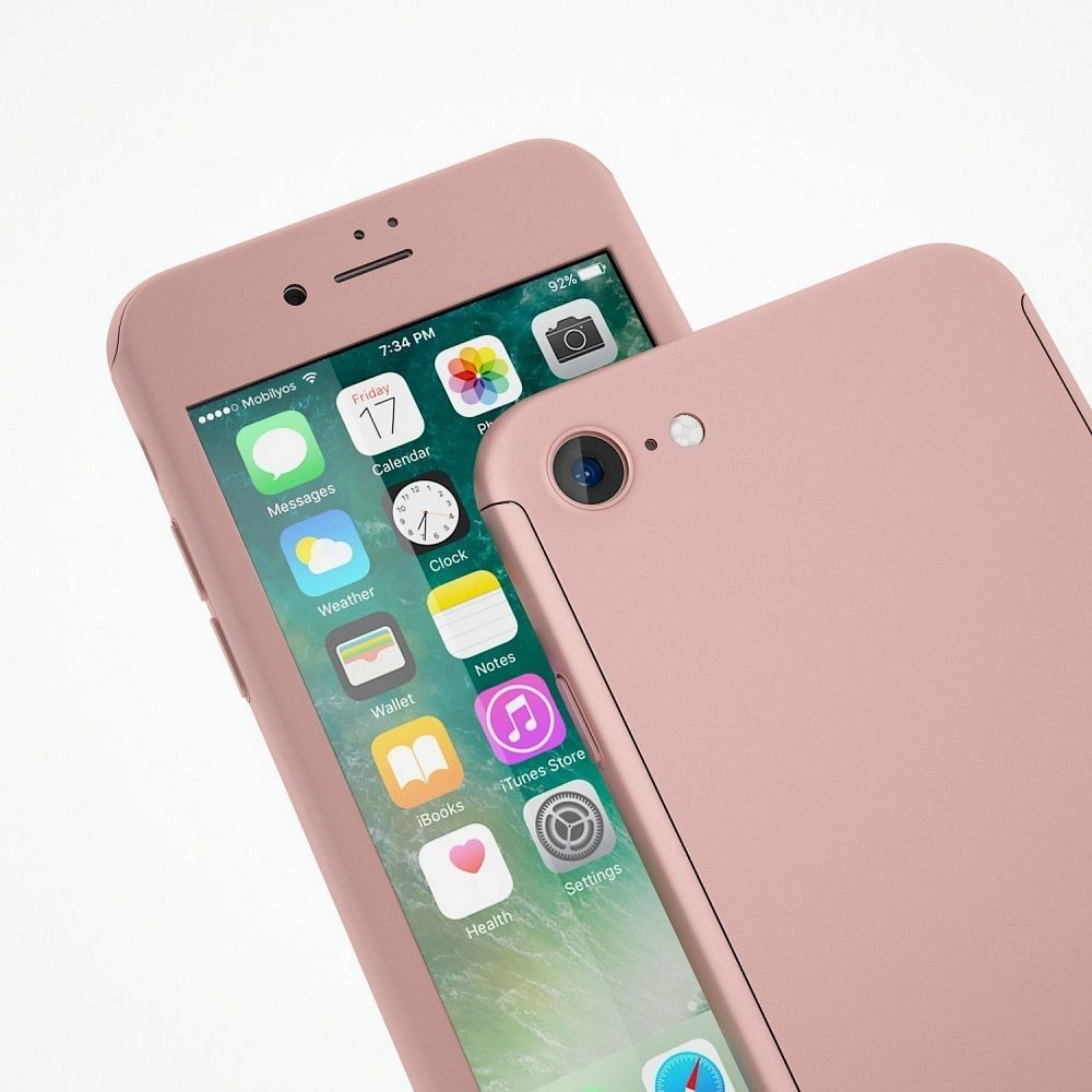 Ovitek 360° (roza) za Apple iPhone 7 Plus/8 Plus