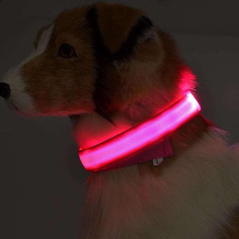 Pametna pasja ovratnica LED (Roza) XS-Extra small