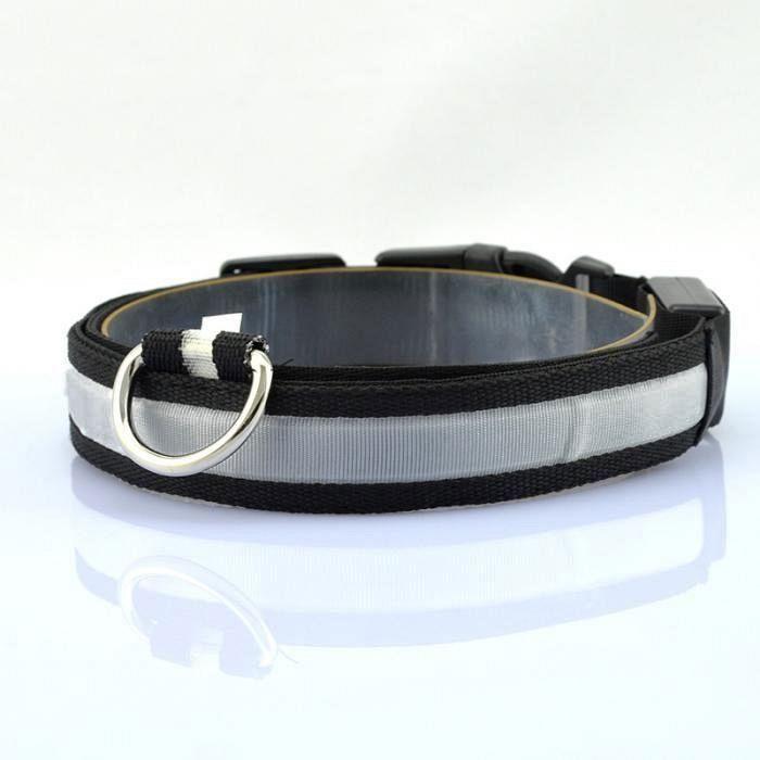 Pametna pasja ovratnica LED (Black) M-medium