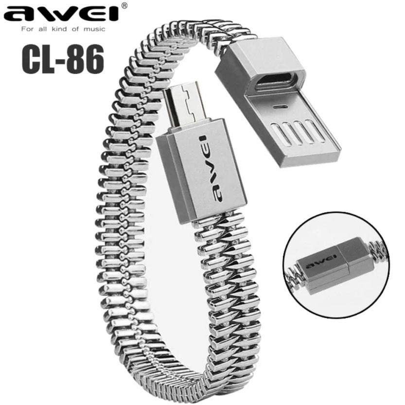 Micro USB bracelet (silver)