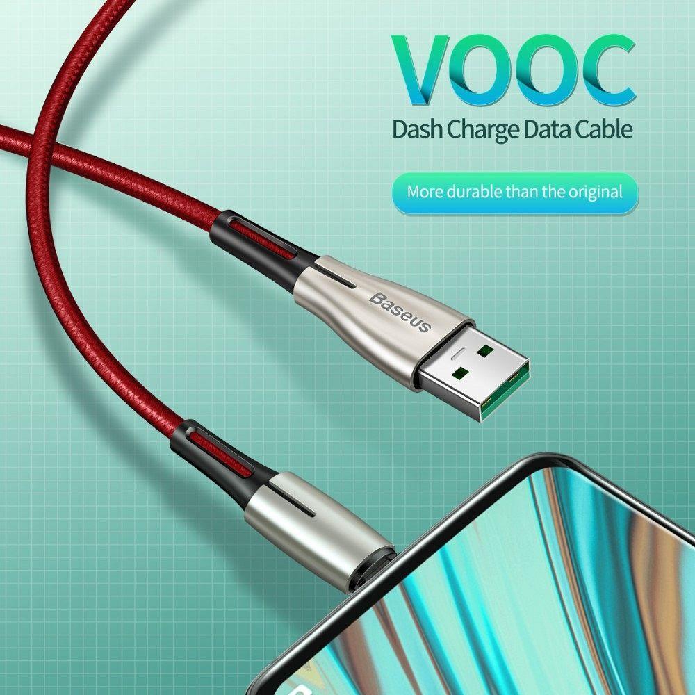 Kabel BASEUS Waterdrop Micro USB 4A (red)