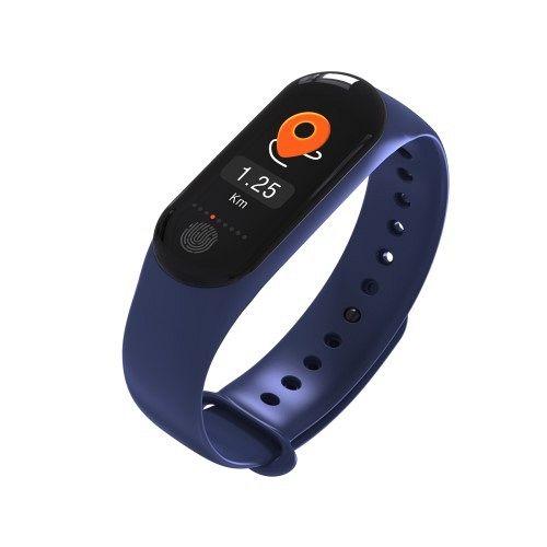 Pametna zapestnica M3 Plus (modra) z merilcem krvnega tlaka