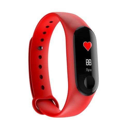 Smart bracelet M3 red