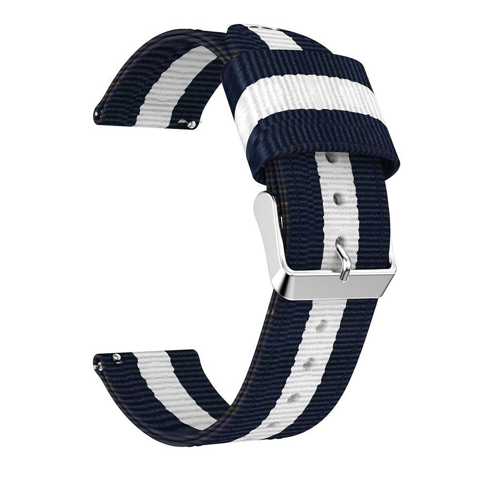 Najlonski mornarski pas 22 mm za Samsung Galaxy Watch 46 mm - plavi
