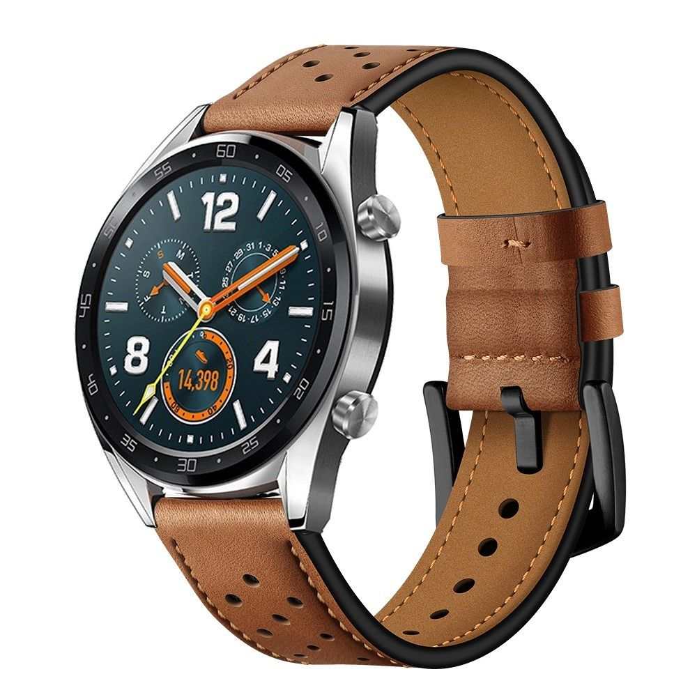 Premium lether remen za Huawei Watch GT / GT 2 (brown)