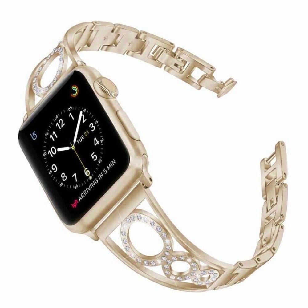 Belt Rhinestone  (gold) for Apple Watch 4/5/6/SE 44mm / Apple Watch Series 1/2/3 42mm