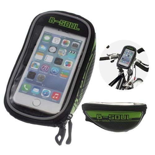 Cycling Touch Screen Bicycle Front Tube Bag (green)