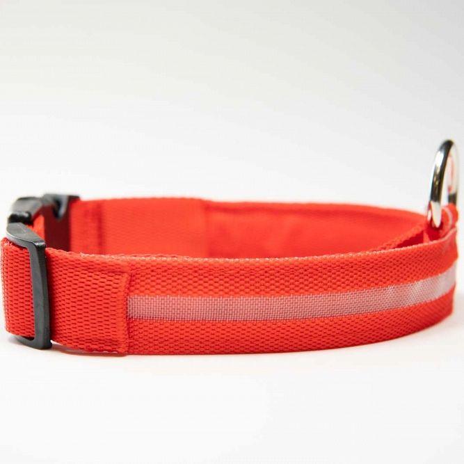 Pametna pasja ovratnica LED (Rdeča) XS-Extra small