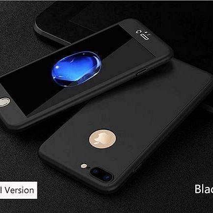 Maska 360° (crna) + zaštitno staklo za Apple iPhone 6 Plus/6s Plus