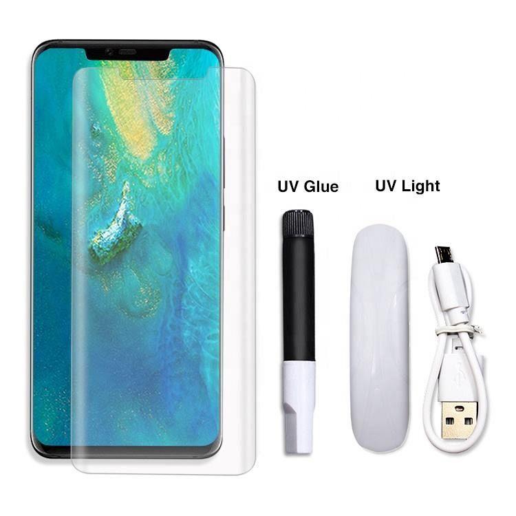 Premium kaljeno zaščitno steklo Nuglas (UV svetloba) za Samsung Galaxy S20 Plus