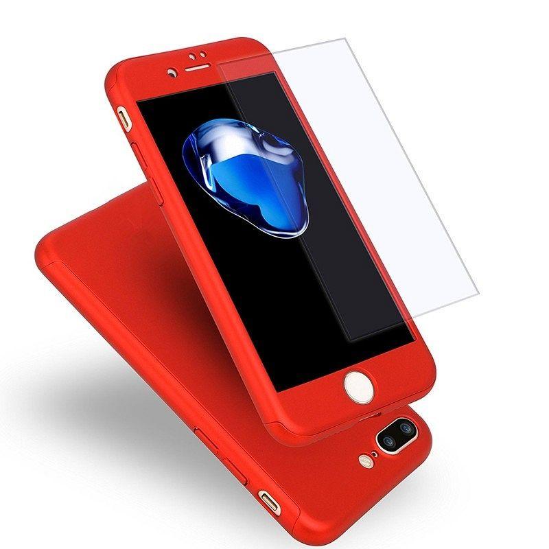 Ovitek 360° (rdeč) za Apple iPhone 7