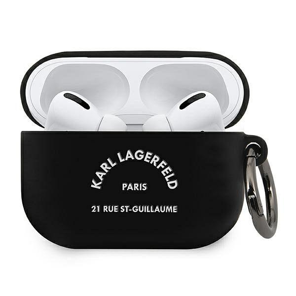 Maska KARL LAGRFELD (black Silicone RSG) za AirPods Pro