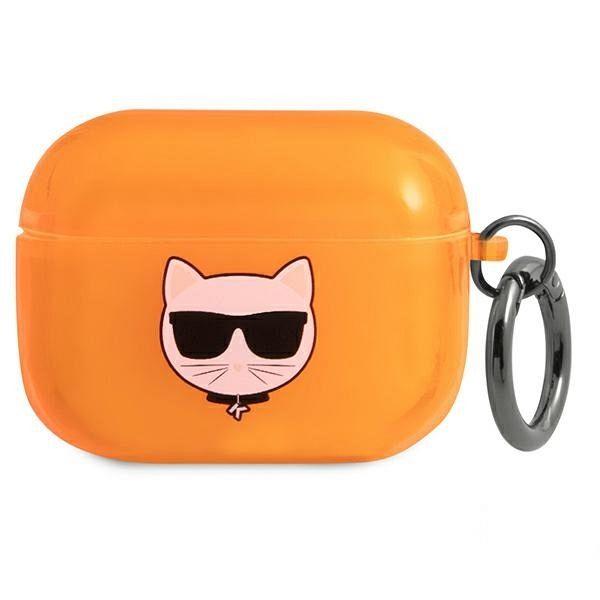 Maska KARL LAGRFELD (orange Choupette) za AirPods Pro