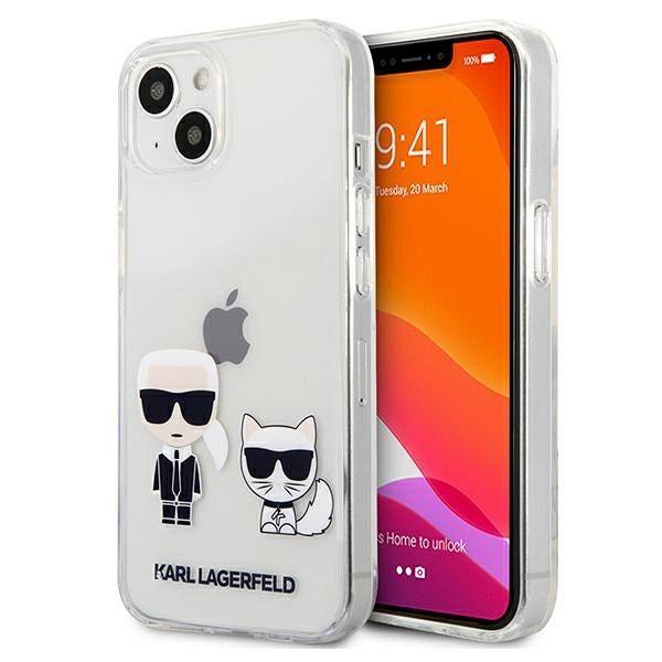 Originalna maska Karl Lagerfeld (transparent) Karl & Choupette za  iPhone 13 Pro /13