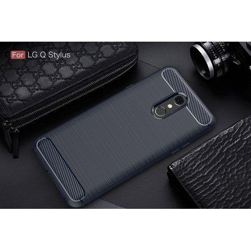 Maska Carbon fiber (blue) za LG Q Stylus