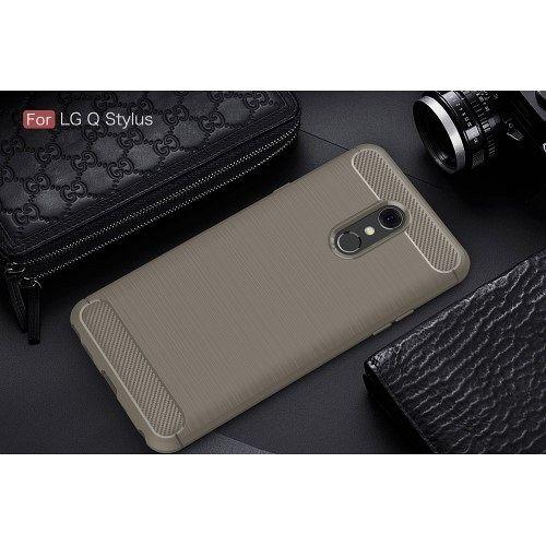 Maska Carbon fiber (grey) za LG Q Stylus