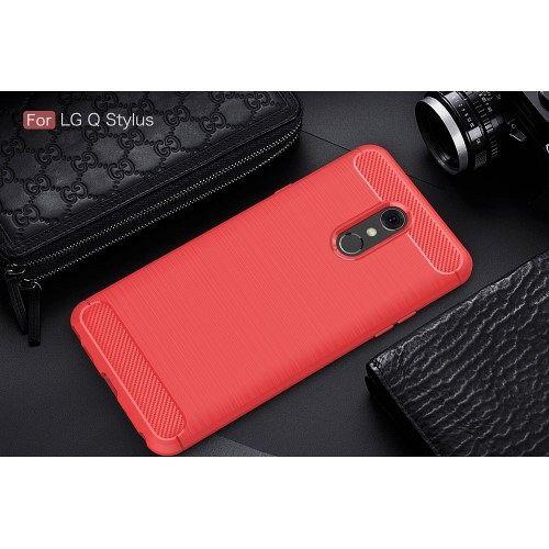 LG Q Stylus Carbon fiber (red) tok