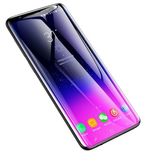 Kaljeno zaščtino steklo Baseus (black) za Samsung Galaxy S9